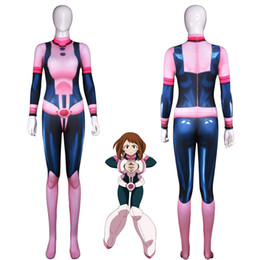 Discount cosplay heroes - Japanese Anime my Hero Academy Ochako Uraraka Cosplay Costume Fighting Uniform Cosplay Costume Halloween Carnival Cospla