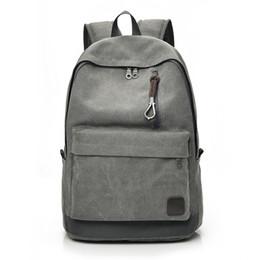 $enCountryForm.capitalKeyWord Canada - INZOOM 2018 Women Men Canvas Backpacks Large School Bags For Teenager Boys Girls Travel Laptop Backbag Rucksack Grey