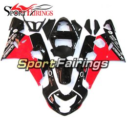 Sportbike Body Canada - Red Black Complete Motorcycles Fairing Kit For Suzuki GSXR600 GSX-R750 K4 2004 2005 Sportbike ABS Plastics Motorcycle Body Kit Covers New