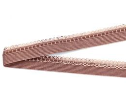 Nylon Knit Fabric NZ - 13mm coffee mesh lace Picot Nylon webbing knitted elastic ribbons trim fabric woven high quality wide swimwear straps custom CS22991-13