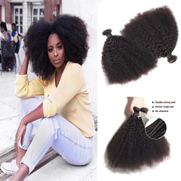 $enCountryForm.capitalKeyWord Australia - 1bundle lot Mongolian Afro Kinky Curly Virgin Human Hair Unprocessed Remy Hair Weaves Double Wefts 100g Bundle Hair Wefts