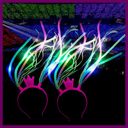 cf66873b117 Fancy dress light online shopping - Led Crown Noodle Headband Flash Party  Rave Costume Fancy Dress