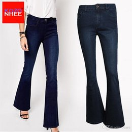 High Jeans Wholesale Stretching Deep Women Waist Nz Flare For With Blue 4Z4rq