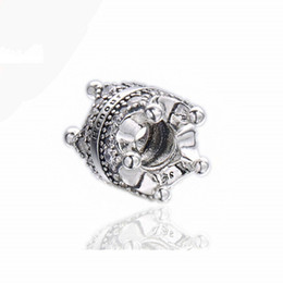 $enCountryForm.capitalKeyWord UK - New 925 Sterling Silver Charm Signature Beauty Royal Crown With Crystal Beads Fits Women Pandora Bracelet DIY Jewelry Accessories