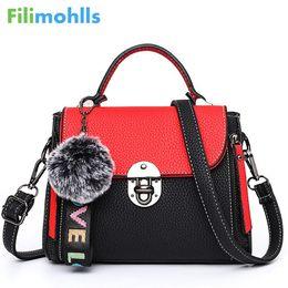 $enCountryForm.capitalKeyWord Australia - Hit color women's handbags leather Ladies hand bags 2018 New women bag shoulder Bag bolsos Fur Toy Women Messenger Bags S1426