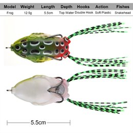 Silicone Jig Bait Australia - bait for Goture Topwater Frog Lures Wobblers Soft Lure Silicone Isca Artificial Bait For Fishing 5.5cm 12.1g 9pcs
