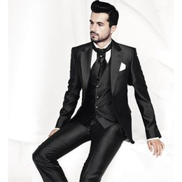 Discount best party dress image man Custom Made Factory Groom Wear Business Suits Wedding Party Dress Men Suits Popular Suit Best Men Suits(Jacket+Pants+Ves
