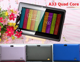 A33 Quad Core Tablet Australia - 2018NEW Q8 7 inch tablet PC A33 Quad Core Allwinner Android 4.4 KitKat Capacitive 1.5GHz 512MB RAM 4GB ROM WIFI Dual Camera Flashlight Q88