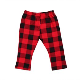 $enCountryForm.capitalKeyWord UK - 2017 Newborn Kids Baby Girl Boys Red Plaid Pants Leggings Bottoms Checks Clothes Long Cute Fashiong clothing