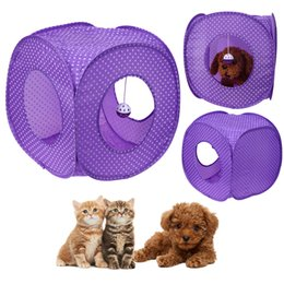 Large Housing Australia - Pet Cat Tunnel Tent Toy Foldable 3 Holes Pet Products Cat Supplies for Cat Toys Tunnels House Beds Mats Rabbit Fun Play Games