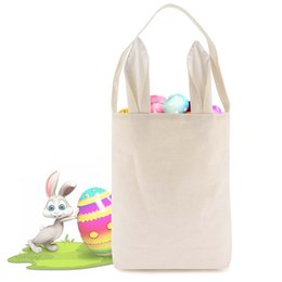 China Burlap Easter Basket with Bunny Ears 14 Colors Bunny Ears Basket Cute Easter Gift Bag Rabbit Ears Put Easter Eggs supplier rabbit bag multicolor suppliers