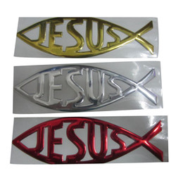 Wholesale 3d adesivi in ​​pvc JESUS ​​decalcomanie per auto autoadesivi paraurti auto styling decorazione accessori auto