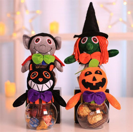 Discount fancy boxes wholesale - Children Cooky Jar Halloween Candy Box Gift Boxes Fancy Ball Party Decoration Transparent candy jar T5I031