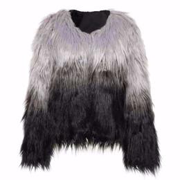 Ladies imitation fur coats online shopping - women long fur grass coat imitation beach long sleeve fur artificial wool coat jacket for women ladies