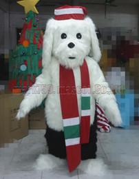 Wholesale holiday mascot costumes online – ideas Holiday dog mascot costume Adult Size Christmas dog mascot luxury plush toy carnival party celebrates mascot factory sales