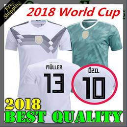 68ee26924 Thai 2018 2019 Germany home Jersey MULLER DRAXLER OZIL KROOS Soccer Jerseys  2018 Home GOTZE HUMMELS WERNER HECTOR GORETZKA Football Shirts
