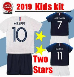 19586345b31 Branded soccer jerseys online shopping - Kids kit two stars GRIEZMANN  MBAPPE soccer jersey boys child