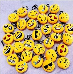 Chinese  6-10cm Emoji QQ Expression Plush Key Rings Cartoon Action Game Figure Pendant Keychain Cell Mobile Phone Stuffed Keychain Toys Gifts manufacturers