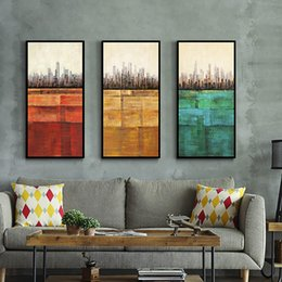 $enCountryForm.capitalKeyWord NZ - Modern Abstract City Tall Building Works Wall Artworks Pictures Single Canvas Painting for Living Home Dinning Room Home Decor No Frame