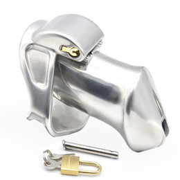 Welded stainless steel online shopping - 2018 New Chastity Cage Stainless Steel Chastity Devices For BDSM Handmade HT Metal Version Non Welded Cock Cage For Men