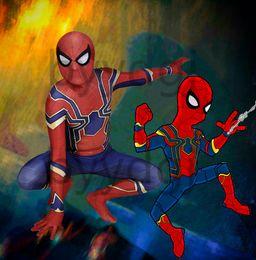 Blue Suit Halloween Australia - Blue Spider-Man Costume Iron Spider MCU Superhero Lycra Zentai Bodysuit Halloween Cosplay suit free delivery