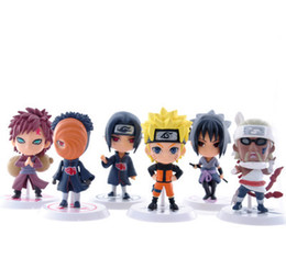 figures UK - 6 styles Anime Naruto sasuke Figure Set Figurine 6Pcs Set Toy Action Figure Japanese anime 7cm Classic Toys