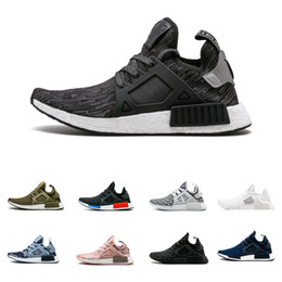 eb1c0f7d902a5 2018 NMD XR1 Shoes Mastermind Japan Skull Fall Olive green Camo Glitch  Black White Linen zebra Pack men women sports shoes 36-45