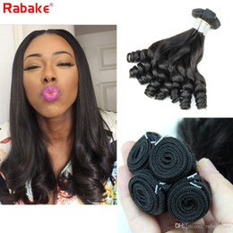 Discount curling machines for hair - 3 or 4 Funmi Remy Human Hair Bundles Romance Curls Rabake Aunty Bouncy Egg Curls Malaysian Funmi Curly Styles Weave Exte