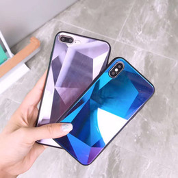 Stereo 3d glaSSeS online shopping - New arrival for designer iphone case Diamond grain D stereo scopic tempered glass for Goophone x designer phone case