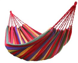 Chinese  Hot selling150 kg Load-bearing Outdoor Garden Hammock Hang Bed Travel Camping Outdoor Sleeping manufacturers
