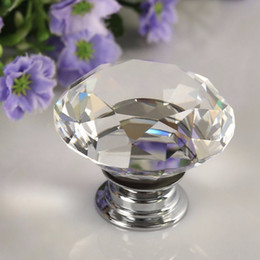 $enCountryForm.capitalKeyWord Australia - 1 pc 2018 30mm Diamond Clear Crystal Glass Door Pull Drawer Cabinet Furniture Accessory Handle Knob Screw Worldwide