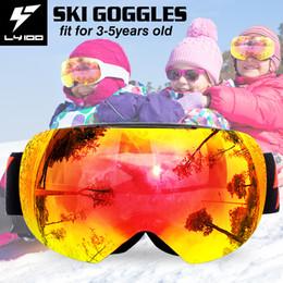 Girls Ski Goggles Australia - 3-5 Years Old Children's Ski Goggles Skiing Snowboard Goggles Anti-fog Boy Girl Eyewear Snow Glasses LY-100 Brand LY-60-1