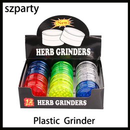 PiPe detector online shopping - Newest layer Plastic Herb Grinder mm For Smoke Detectors Pipe Smoking Pipes Acrylic Grinders For Twisty Glass Blunt