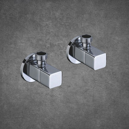$enCountryForm.capitalKeyWord NZ - 2 PCS Wholesale Double Outlet SUS Brass Angle Valve Kitchen Bathroom Accessories Water Heater Angle Valves 9001