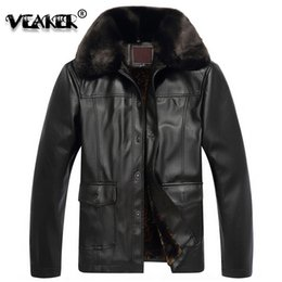 motorcycle jacket 4xl 2019 - Men leather Jacket Winter Thick Leather Jackets Coat Faux Fur mens Long Motorcycle PU Jacket Warm Outerwear Parka High Q