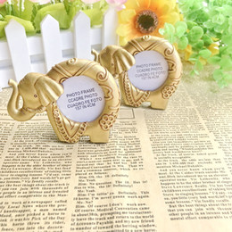 Free Gift Picture NZ - FREE SHIPPING(15pcs Lot)+Lucky Golden Elephant Picture Frame Place Card Holder Indian Themed Wedding&Bridal Shower Favors