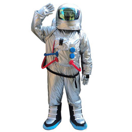 Wholesale space suits resale online - 2018 Discount factory sale Space suit mascot costume Astronaut mascot costume with Backpack glove shoes