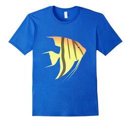 Aquarium Brands UK - Angel Fish T Shirt Tropical Aquarium Scuba Snorkel Ocean T Shirts Casual Brand Clothing Cotton New 2018 Fashion Hot