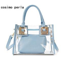 0c1a846952a0 2018 новая мода женщины прозрачный сумка желе конфеты цвет лето пляж сумки  женщина сумки посыльного