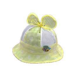 $enCountryForm.capitalKeyWord UK - 2018 Girls baby Mesh patchwork Dome Bucket Hats Child Kids Lace Bowknot Design Fisherman Cap Summer Sun Protective Hat MZ5708