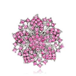 $enCountryForm.capitalKeyWord UK - Wedding Jewelry Set Brooch Red Rhinestone Flower Brooch Pin AC036
