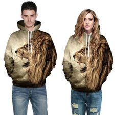 eb13c21ec0d3 Elegant Lion pattern 3D digital printing thin Hoodie General Unisex plush  Lovers Spring Sweatshirts Loose type Baseball jackets