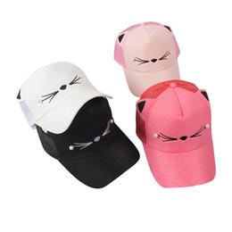 15TOP LOT SINGYOU Lovely Cat Ear Baseball Cap Women Casual All-match  Sunshade Hat Solid Color Mesh Hats 5b7bf16c38da