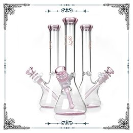 10 inch hello kitty glass beaker bong with ice catcher pink bongs glass smoking pipe heady glass hookah tobacco water pipe in stock hot sale from d k glass manufacturers