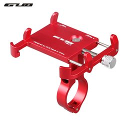 Wholesale GUB Bicycle Phone Holder for inch Smart Mobile PhoneBike Handlebar Clip Stand Universal Support GPS Bike Phone Stand