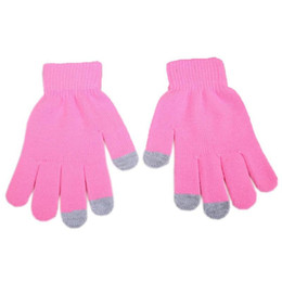 mrwonder New Winter Solid Color Men Women Screentouch Knit Winter Warm Gloves from pad tablet pc suppliers