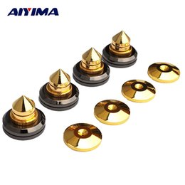 $enCountryForm.capitalKeyWord NZ - audio AIYIMA 4 Pair Mini Portable Audio Spikes Speakers Repair Parts DIY Speaker Stand Shock Pin Nails And Pads Accessories