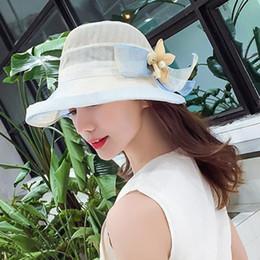 $enCountryForm.capitalKeyWord Canada - Korean style girls spring and summer models small fresh big hat elegant intellectual flowers sun shade sunshade beach hat