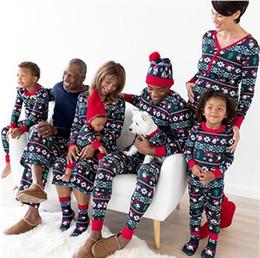 b7fe5a322b Hot Family Matching Christmas Family Pajamas Set Snowflake Tree Printed  Adult Baby Kids Long Sleeve Nightwear Pyjamas Costume