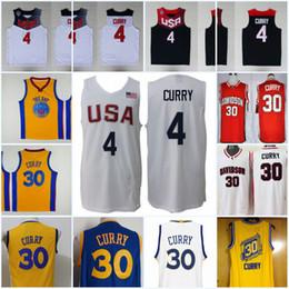 Mens NCAA  30 Stephen Curry Davidson Wildcat College Basketball Jerseys  Stephen Curry Golden City Edition Jersey  4 Dream USA Jersey 58d6bb6ec